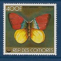 """Comores Aerien YT 144 (PA) """" Papillon """" 1978 Neuf** - Comores (1975-...)"""