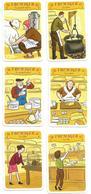 Métier, Fromager, Fabrication Du Fromage, Commerce - 6 Cartes Illustrées, Humour, Image, Enfant - Jeu 7 Familles - Autres Collections