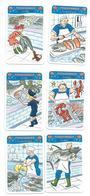 Métier, Poissonnier, Commerce, Poisson, Homard, Requin, Thon .. - 6 Cartes Illustrées, Image, Enfant - Jeu 7 Familles - Other Collections