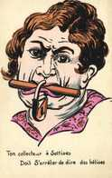 Illustrateur Ton Collecteur à Sottises Doit S'arreter De Dire Des Betises RV - Humour