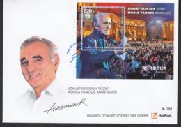Armenia Armenien MNH** 2018 Charles Aznavour  Mi 1076 Bl.93 FDC - Armenien