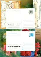 Lot Of 30 Postcard Of Belarus 2001. Happy New Year. Postcard With Printed Stamp. New. - Stamps