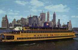 Bateau Departement MARINE & AVIATION  New York City Skyline RV Beaux Timbres - Transports