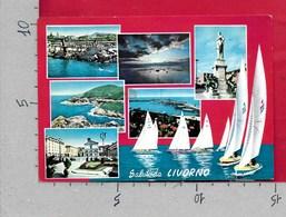 CARTOLINA VG ITALIA - Saluti Da LIVORNO - Vedutine Multivue - 10 X 15 - ANN. 1964 - Saluti Da.../ Gruss Aus...