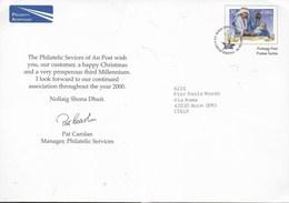IRLANDA - INTERO SPECIALE DAL PHILATELIC SERVICES - NATALE 1999 - FORMATO GRANDE 21X15 - Interi Postali