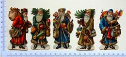 5 CHROMOS DECOUPIS.... PERE NOEL...H 9 Cm...JOUETS...HOTTE - Motiv 'Weihnachten'