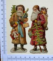 2 CHROMOS DECOUPIS.... PERE NOEL...H 10.5 Cm...JOUETS...SAPIN - Motif 'Noel'