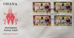 Ghana 1981 HONORING PAPAL VISIT TO GHANA F.D.C. - Ghana (1957-...)