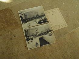 CHINE -CHINA -  PEKIN -1935 MENU Et PHOTOS Cercle Des Sous Officiers - Chine