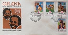 Ghana 1980 Intl.Year Of The Child F.D.C. - Ghana (1957-...)