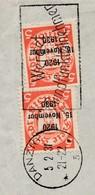2 Envellope  Fen^ztre Affranchie N° 182A / + Flamme De Danzig / 7..12.29 ( DEvant ) + 200A (2x) Surchargé 1920 / 15 NOVE - Dantzig