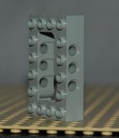 Lego Brique Technic Gris Modifie 4x6x1 Avec Passage Ref 40344 - Lego Technic