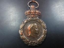 Medaille, Bronze Doré Napoleon 1 Er Empereur - Before 1871