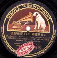 78 Trs - 30 Cm - Etat TB - SYMPHONIE EN UT MINEUR N°5 (Beethoven) - Orchestre Symphonique Du GRAMOPHONE - 78 T - Disques Pour Gramophone