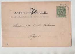 Généalogie Carte Précurseur 1901 Colassou Colasson Royat Grenoble La Bibliotheque - Genealogie