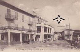 SAINT JEAN CAP FERRAT Le Terminus Du TRAMWAY - (Café Bar TERMINUS). - Saint-Jean-Cap-Ferrat