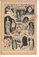 Folklore Presse 1906 Annam Cambodge Cochinchine Costumes Femme Tcham Mytho Annamite Danseuse Saïgon Musique 223CH11 - Old Paper
