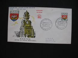 FDC 1958     N° 1185  Armoiries De Villes  -  Nantes     à Voir - FDC