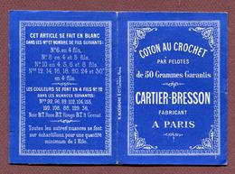 """PETIT ALBUM DE CROCHET   : """" CARTIER-BRESSON """"  ( Genre SAJOU ) - Point De Croix"""
