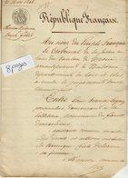 VP13.457 - Tribunal De DROUE - Acte De 1848 - Héritiers DELORME à LE GAULT Contre GODET à LA FONTENELLE - Manuscrits
