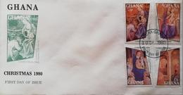 Ghana 1980 CHRISTMAS F.D.C. - Ghana (1957-...)