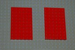 Lego Lot 2 X Plate Rouge 6 X 10 Ref 3033 - Lego Technic