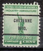 USA Precancel Vorausentwertung Preo, Bureau Wyoming, Cheyenne 899-71 - Etats-Unis