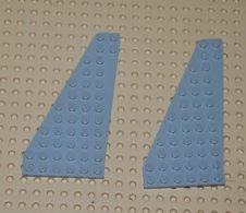 Lego Lot 2 X Plaque Aile Droit Gris 7 X 12 Aile Droit Ref 3585 - Lego Technic