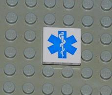Lego Dalle 2 X 2 A Motif Etoile Bleue EMT De La Vie Printed Ref 3068bpb0038 - Lego Technic
