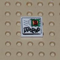 Lego Dalle 2 X 2 Avec Enveloppe Fabuland Mail Texte Et Motif De Tampon 1 Ref 3068pb01 - Lego Technic