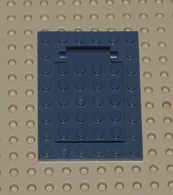 Lego Plaque Cadre De Porte A Piege Gris Fonce 6 X 8  Ref 30041 Et Charniere De Trappe 4x5 Ref 30042 - Lego Technic