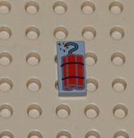 Lego Dalle 1 X 2 Avec Motif Dynamite Ref 3069bp03 - Lego Technic