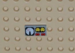 Lego Dalle 1 X 2 A Motif Jauges Rouges 82 Ref 3069bpx19 - Lego Technic