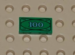 Lego Dalle 1 X 2 Avec Billet 100 Dollar Ref 3069bpx7 - Lego Technic