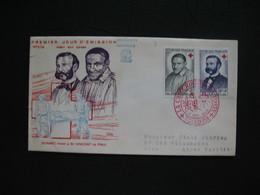 FDC 1958     N° 1187-1188  St-vincent De Paul  Et J. Henri Dunant - Au Profit De La Croix-Rouge    à Voir - FDC