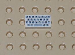 Lego Dalle 1 X 2 Avec Motif  Clavier Ordinateur Printed Ref 3069bp80 - Lego Technic