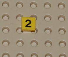 Lego Dalle 1 X 1 Avec Motif Numero 2 Printed Ref 3070bp02 - Lego Technic