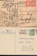 177 (2x) + 178 /  2 CP De Flamme  De Danzig Les 11.5.37 & 3.7.35-> Berlin & Frankfurt - Dantzig