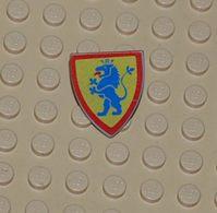 Lego Bouclier Personnage Avec Motif Lion Bleu Debout Sur Fond Jaune Printed Ref 3846p4g - Lego Technic