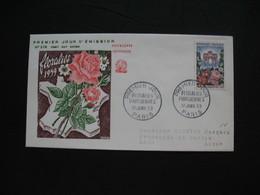 FDC 1959     N° 1189  Floralies Parisiennes - Arc De Triomphe Du Carrousel à Paris     à Voir - 1950-1959