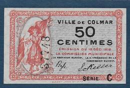 Ville De COLMAR - Billet De 50 Centimes - 15 Déc. 1918 - Série C - Chambre De Commerce