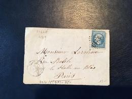 France - N°22 Rare GC 4219 (Villé) Sur DEVANT De Lettre - 1864 - (B1107) - Poststempel (Briefe)