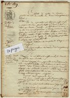 VP13.458 - DROUE - Acte De 1829 - Entres Mrs GUILLIER à SAINT ELOI & PERCHERON Vente D'Objets Mobiliers à LE GAULT - Manuscripts