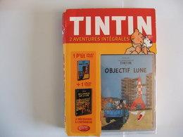 TINTIN Coffret 2 Aventures Intégrales 1 P'tit Dvd Objectif Lune + 1 Dvd On A Marché Sur La Lune Jamais Ouvert - Dessin Animé