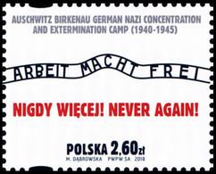 Poland 2018 Fi 4822 Mi 4972 Never Again! - 1944-.... República