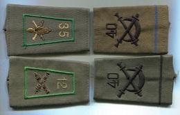 G032 LOT DE 4 FOURREAU EPAULETTE TOUTES ARMES - Patches