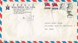Taïwan - Lettre Recommandée (format 245 X 135) De Taïpei Pour Wuppertal (Allemagne) 1981 ? - 1945-... République De Chine
