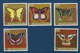 """Comores YT 220 à 224 """" Papillons """" 1978 Neuf** - Comores (1975-...)"""