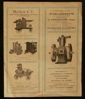 ( Agriculture Batteuses Motobatteuses ) Catalogue Etablissements De VENDEUVRE ( Aube ) 1920 - Agriculture