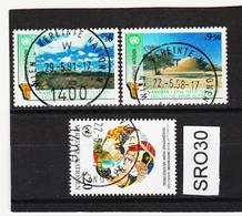 SRO30 VEREINTE NATIONEN UNO WIEN 1991 Michl 114/16 Used / Gestempelt - Wien - Internationales Zentrum